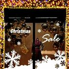 Large Snowflake Snow Christmas Slae 2M Shop Show Window Wall Decoration Sticker