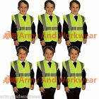 6 x Kids Hi Viz Safety Vest Waistcoat Vis Visability Childrens School Travel