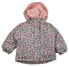 Faded Glory Toddler Girls Heart Print 3 In 1 Outerwear Coat Size 3T 4T 5T