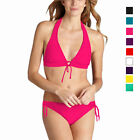 Ladies Padded Halter Triangle Bikini Top Bottom Swimwear Swimsuit sw2043