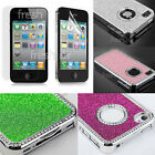 Blink Glitter Luxury Rhinestone Case For iPhone 4/4s 5/5s +Free Screen Protector