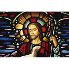 'Stained Glass of Jesus Christ, Cathedral, Christianity' Photography Wall Art Ca