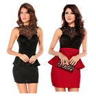 Sexy Lace Women's Elegant Formal Vintage Cocktail Evening Club Wear Party Dress