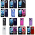 For Apple Iphone 5th 5 Center Diamond Metal Hard Case Cover