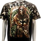 b126 Survivor T-shirt M L XL XXL Tattoo STUD Skull Knight Demon Angel mma Fatboy