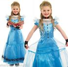 Girls Victorian Long Alice in Wonderland Book Day Fancy Dress Costume Outfit
