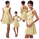 2015 FREE SHIP~Sexy Short Chiffon Homecoming Bridesmaid Evening Party Gown Dress