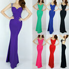 GK Sexy Deep V Backless Slim Ball Gown Evening Prom Party Long Bridesmaid Dress