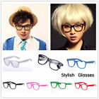 Candy Colors Retro Vintage Clear Lens Frame Wayfarer Unisex Nerd Geek Glasses