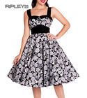 HELL BUNNY Black 50s ARCADIA DRESS Roses Anchors White All Sizes