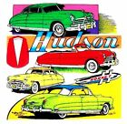 THE FABULOUS HUDSON HORNET CARS STYLE T-SHIRT  TB171