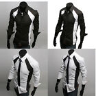 2014 BIG SALE PJ Mens Luxury Casual Slim Fit Stylish Casual Formal Dress Shirts
