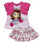 Sofia The First Girl Princess Top T-Shirt Floral Tutu Skirt Dress 2PC Set Outfit
