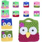NEW 12 Colors Infant Baby Knit Crochet Owl Photography Props Handbag Tote Purse