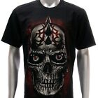 r109 Rock Eagle T-shirt Tattoo Skull Dead Killer Devil Hell Punk Monster Horror