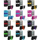 For iPhone 4 4G 4S Color Hybrid Heavy Duty Rugged Hard/Soft Case Cover w/ Stand