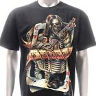 g22 Rock Chang T-shirt Tattoo Glow in Dark Guitar Skull Ghost Music Street Men
