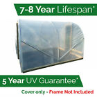 Greenhouse Polythene Polytunnel Cover Clear Film Sheeting 7.3m 9.2m 11.1m 14m