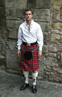 Great Gift: Complete 5 Yard Party Kilt Package in Various Tartans and Sizes