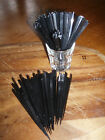 Black Crystal Plastic Cocktail Sticks Picks 90mm 9cm Party Tableware Cocktails