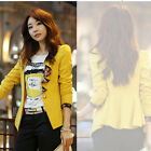 Fashion Women's Floral Ruffles Suit One Button Blazers Frill Jacket Tails Coat
