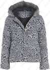 Size 6 8 10 12 14 Womens QUILTED Ladies JACKET COAT PADDED Hooded Rain Shower