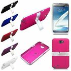 Samsung Note 2 N7100 Cover Metal Chrome Aluminum Kickstand Metallic Hard Case
