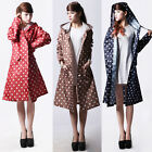 Women Lady Waterproof Quick-drying Outdoor Travel Riding Clothes Dot Raincoat