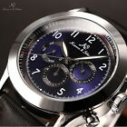 KS Automatic Mechanical Day Date Display Leather Men Wrist Watch + Free Box