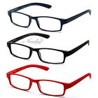 2 Pair Mens Women Rubber Coated Frame Grip Reading Glasses Black Red Blue Brown