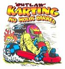 MONSTER OUTLAW GO KART RACING NO HOLDS BARRED KARTING SWEATSHIRT  GE63