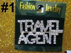 Travel Agent Home Interior Parties Real Estate Brooch Pin Crystal Decor Jewelry
