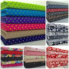 FAT QUARTER BUNDLES 100 % COTTON fabrics lots of colours /designs