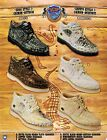 Wild West Men's Casual Lace Up Caiman/Ostrich Oxford Sneaker Shoes Diff. Colors