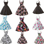 GK Vintage Rockabilly Style 1950s 1960s Floral Housewife Pinup Swing Jive Dress