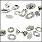 2 Complete Twist Lock Clasp Sets & Snap Clasp for Purses Bags Clasps Fastener ML
