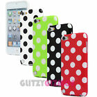 BRIGHT POLKA DOT RUBBER GEL CLIP CASE COVER SKIN FOR APPLE iPOD TOUCH 5 5th GEN