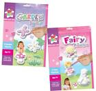 MAKE & PAINT YOUR OWN FAIRY FAIRIES BUTTERFLY & FLOWER PLASTER OF PARIS & MOULDS