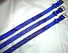 Coyote Paint Spatter Blue Dog Collars