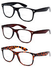 Bifocal Readers Horned Rim Reading Glasses with Spring Hinge Temples