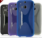 1X Newest Soft TPU Gel Cover Case Skin For HTC One 2 / M8