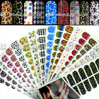 16 pcs Pre-Design Nail Art Armour Foil Wraps Stickers 035V2