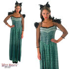 FANCY DRESS COSTUME ~ ADULT LADIES GREEN DISNEY EVANORA COSTUME SIZES 8 - 18