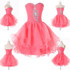 Rucked Lady Shimmering Beaded Banquet Slim Ruched Bodice Prom Party Formal Dress