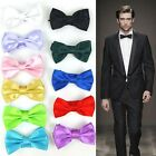 Multi-Color Deluxe Men Solid Candy Color Comfy Formal Evening Party Tied Bow Tie