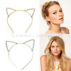 Sexy Cat Ears Girl Head Band Metal Fashion Hair Accessories Silver & Golden