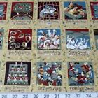 12 Days of Christmas Squares 100% Cotton Fabric