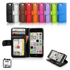 Leather Flip Wallet Case Cover for Apple iPhone 5C