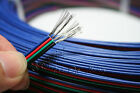 4 Color RGB Black 4-Pin 4 Wire Extension Cable LED RGB Stripe Cord 3528 5050