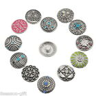 10PCs Snap Buttons Pattern Carved Fit Snap Bracelets M2235